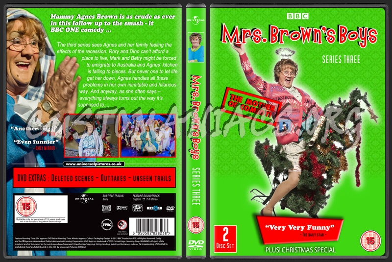 Mrs Brown's Boys Series 3 dvd cover