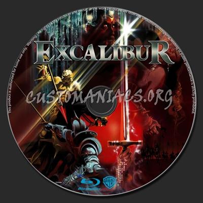 Excalibur blu-ray label
