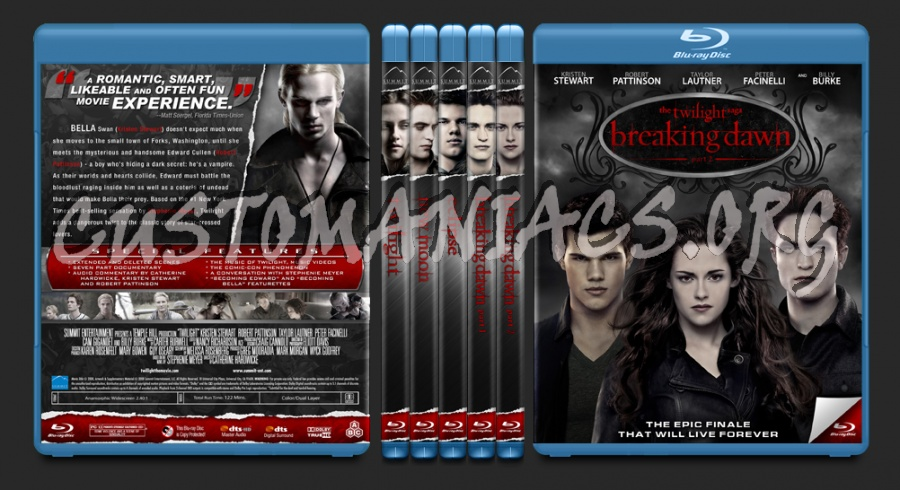 The Twilight Saga blu-ray cover