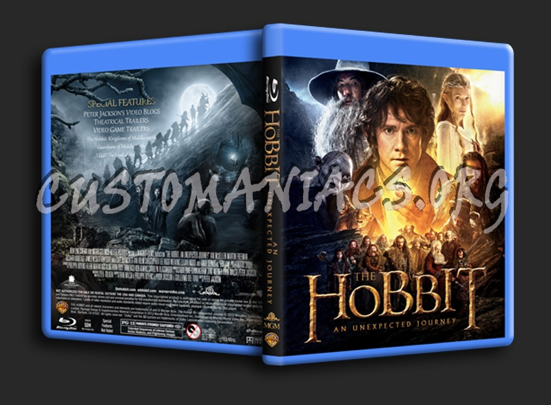 The Hobbit: An Unexpected Journey blu-ray cover