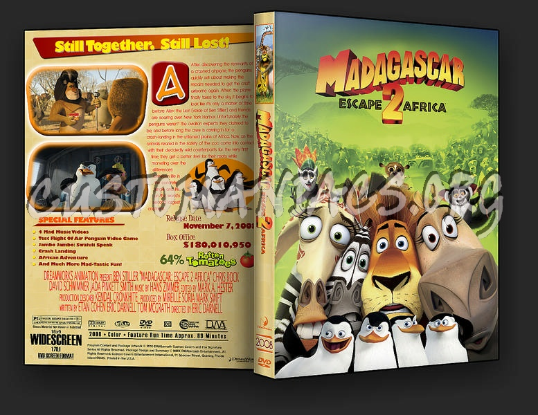 Madagascar Escape 2 Africa Dvd Cover Dvd Covers Labels By Customaniacs Id 187323 Free Download Highres Dvd Cover