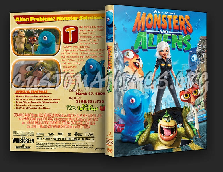 Monsters vs. Aliens dvd cover - DVD Covers & Labels by ...