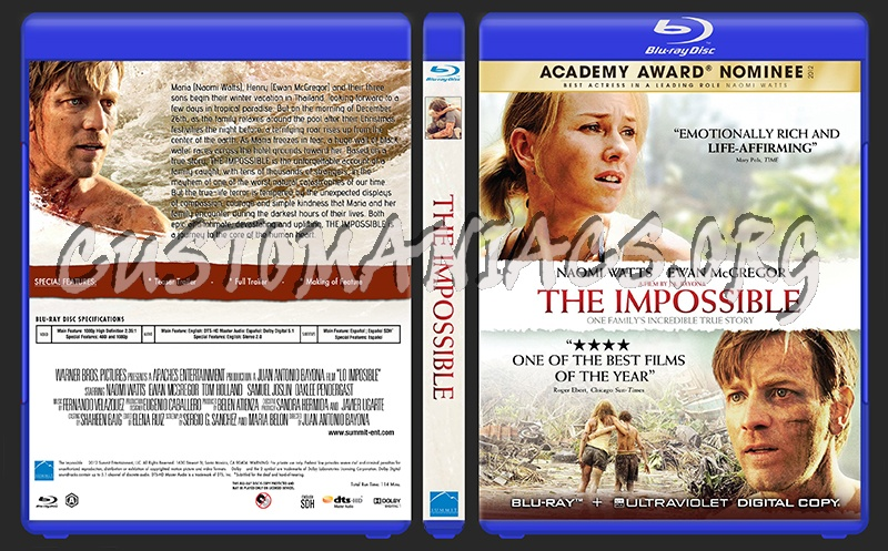 The Impossible blu-ray cover