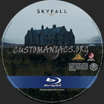 James Bond - Skyfall blu-ray label