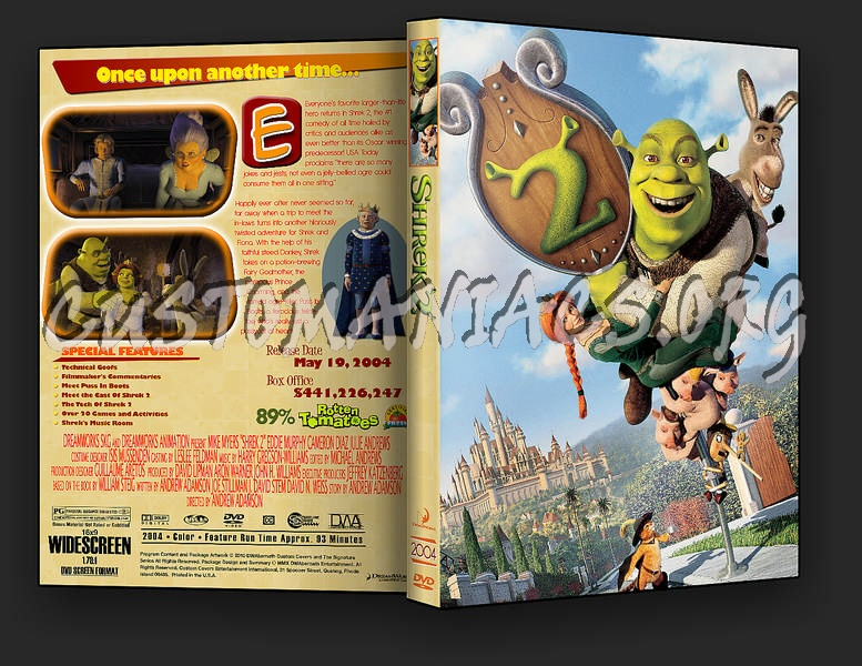 Shrek 2 Dvd Cover Dvd Covers Labels By Customaniacs Id