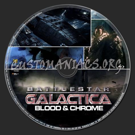Battlestar Galactica: Blood & Chrome dvd label