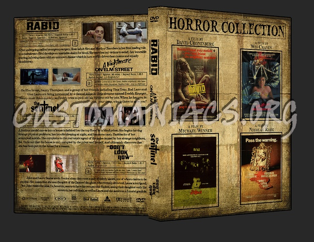 Horror Collection (Rabid, A Nightmare on Elm Street, The Sentinel, Don't Look Now) dvd cover