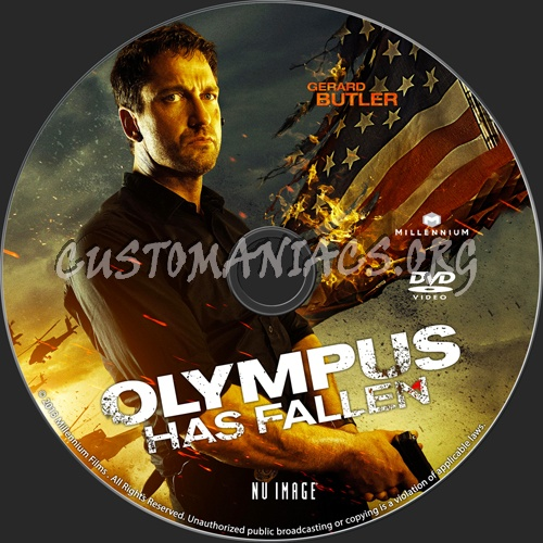 Olympus Has Fallen dvd label