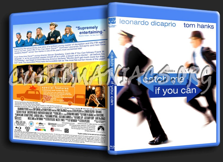 Catch Me If You Can blu-ray cover