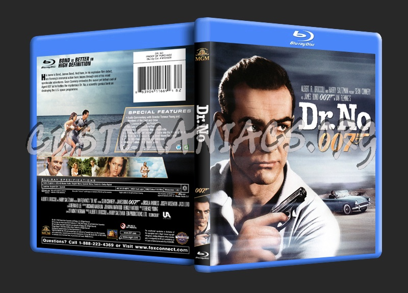 Dr. No (James Bond 50th Anniversary Package) blu-ray cover