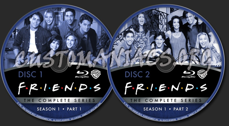 Friends The Complete Series Season 1 Blu Ray Label