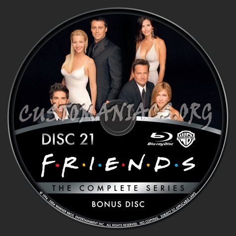 Friends The Complete Series Bonus Disc Blu Ray Label