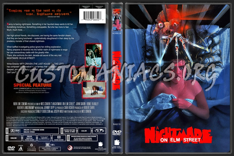 A Nightmare on Elm Street (1984) dvd cover