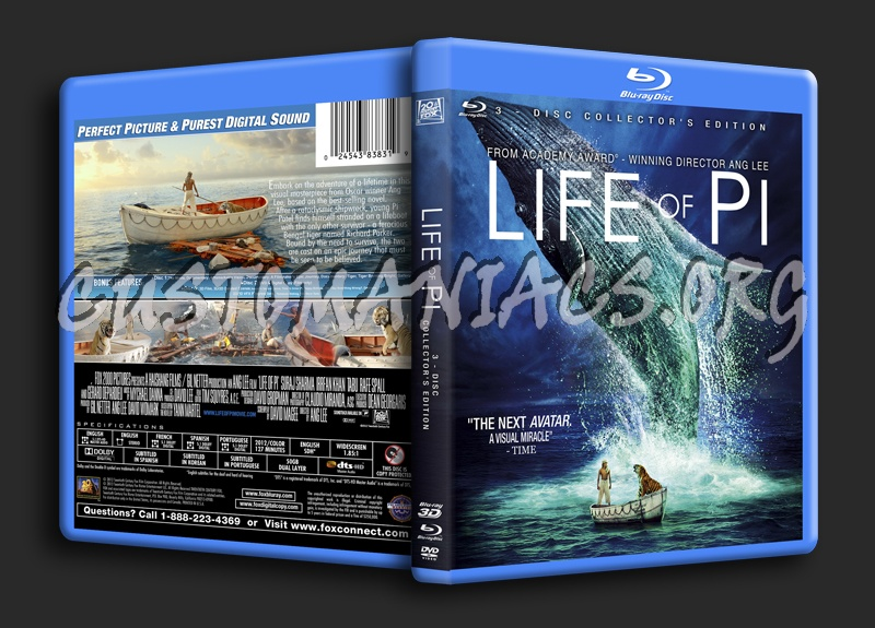 Life of Pi 3D - Collector's Edition blu-ray cover