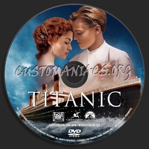 Titanic dvd label