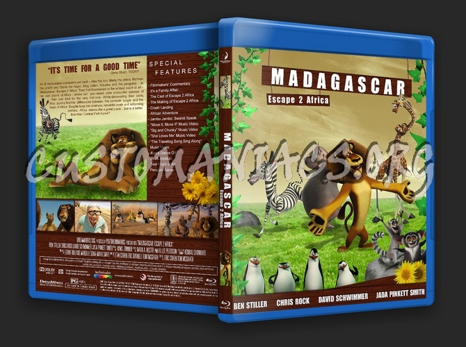 Madagascar Escape 2 Africa Blu Ray Cover Dvd Covers Labels By Customaniacs Id 187950 Free Download Highres Blu Ray Cover