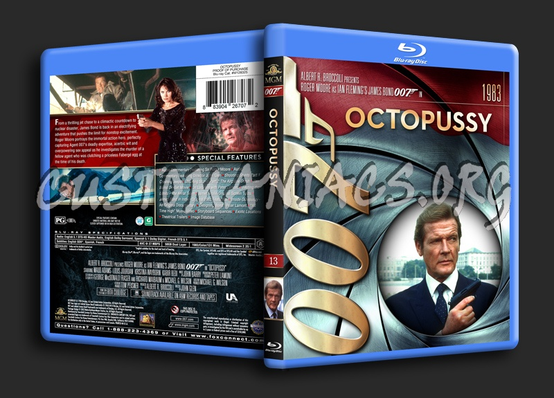 James Bond Collection - Octopussy (13) blu-ray cover