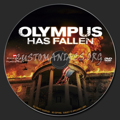 Olympus Has Fallen (2013) dvd label