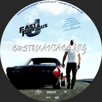 Fast And Furious 6 Dvd Label