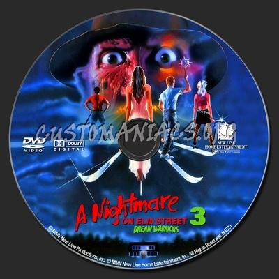 A Nightmare on Elm Street 3 - Dream Warriors dvd label