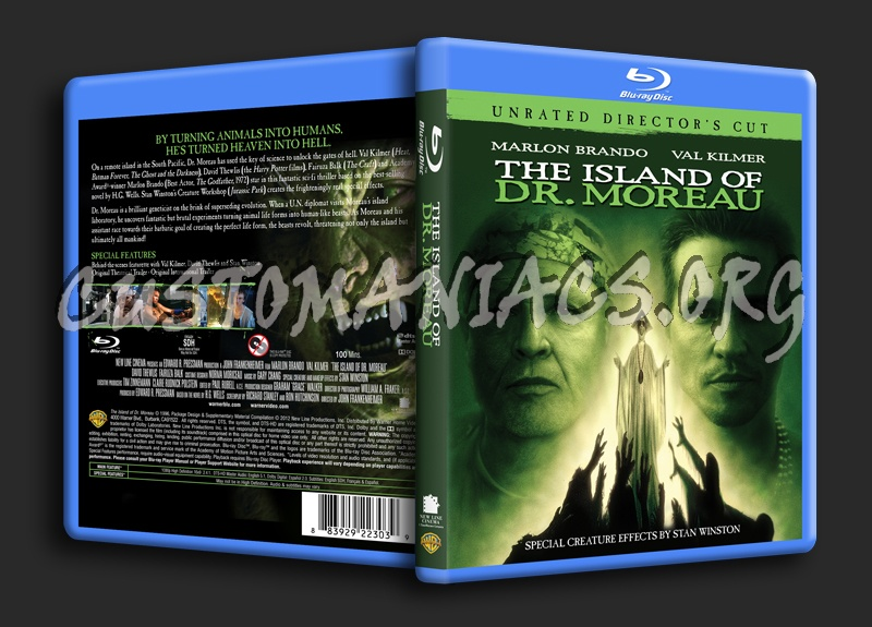The Island of Dr Moreau blu-ray cover