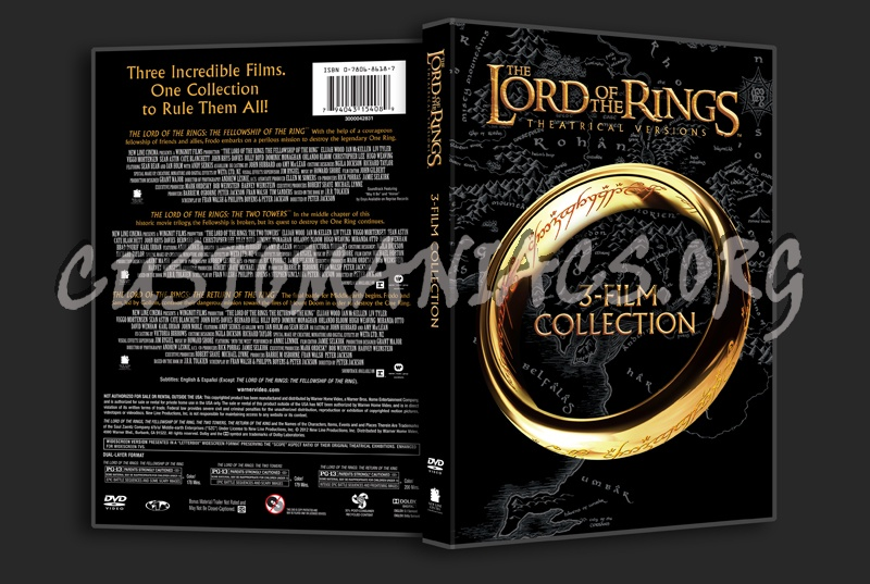 The Lord of the Rings 3-film collection dvd cover