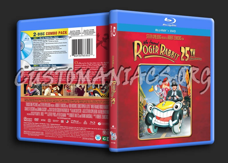 who framed roger rabbit blu ray cover