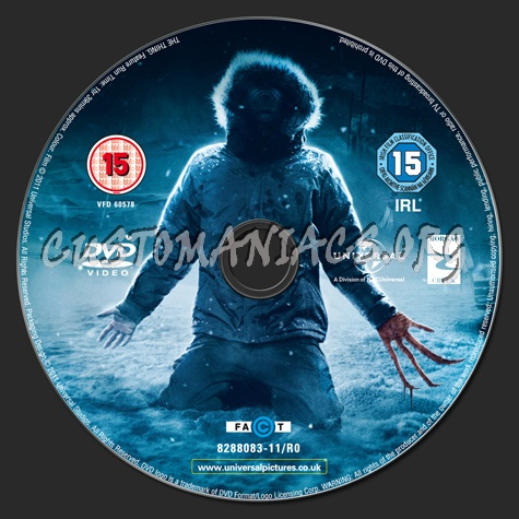 The Thing dvd label