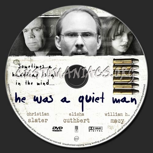 He Was a Quiet Man dvd label