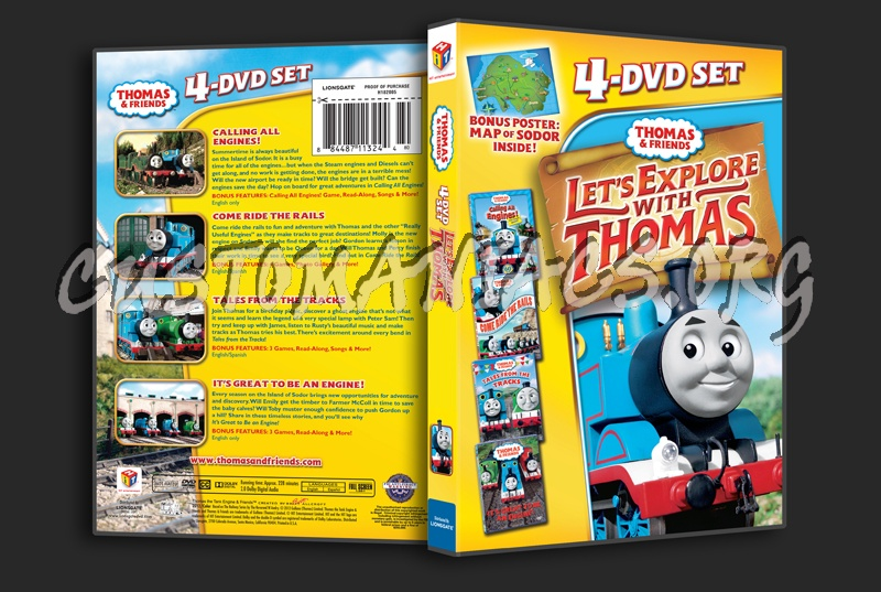 Thomas & Friends: Let's Explore With Thomas dvd cover