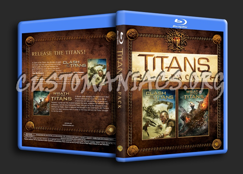 Titans 2-Pack (Clash of the Titans/Wrath of the Titans) blu-ray cover
