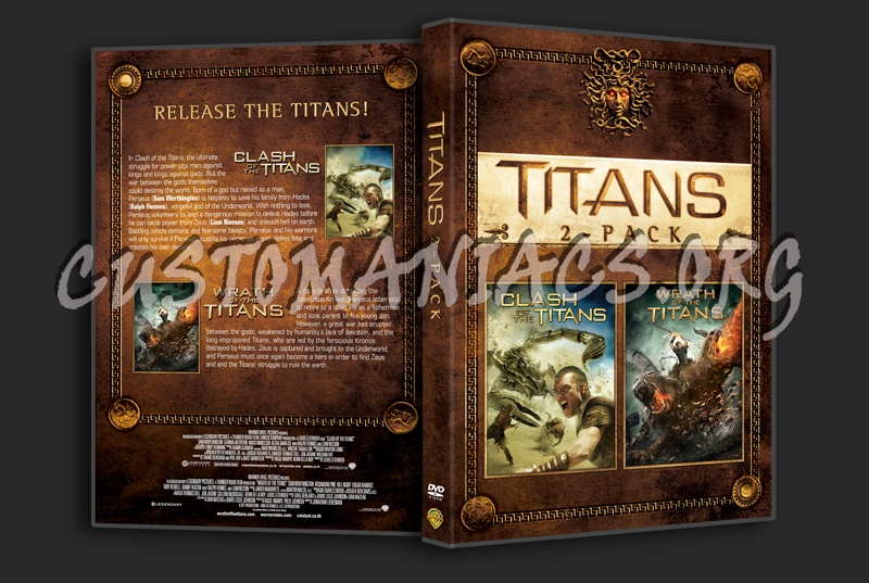 Titans 2-Pack (Clash of the Titans/Wrath of the Titans) dvd cover
