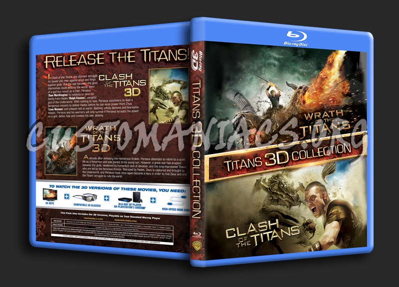 Titans 3D Collection (Clash of the Titans/Wrath of the Titans) blu-ray cover