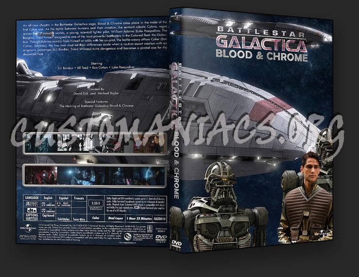 Battlestar Galactica Blood & Chrome dvd cover