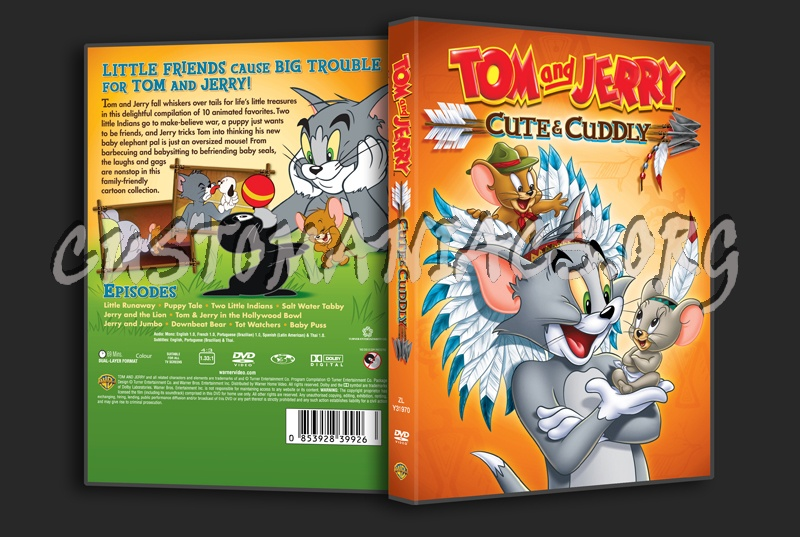 Tom And Jerry Cute Amp Cuddly Dvd Cover Dvd Covers