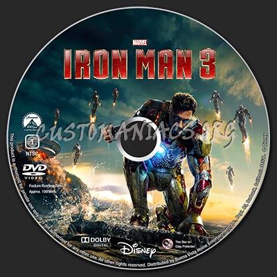 Iron Man 3 dvd label