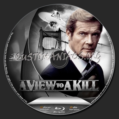 A View to a Kill blu-ray label