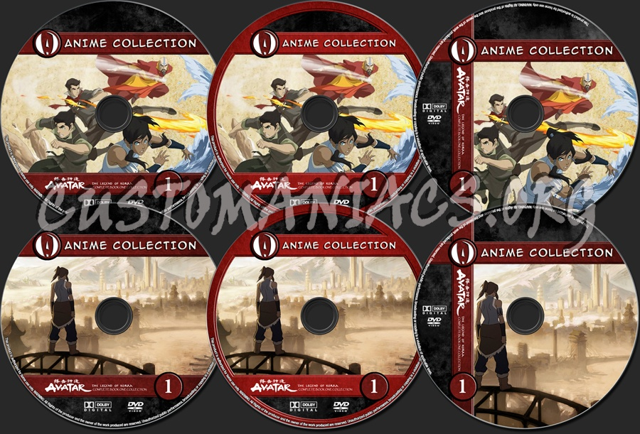 Anime Collection Legend Of Korra Complete Book One Collection dvd label