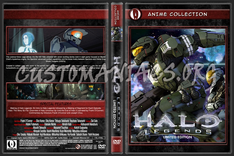 Anime Collection Halo Legends Limited Edition dvd cover