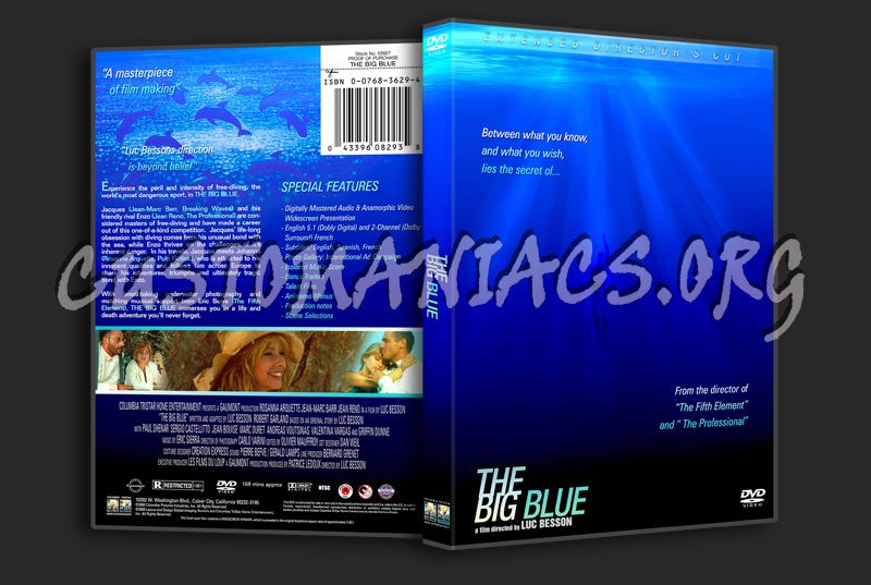 The Big Blue dvd cover