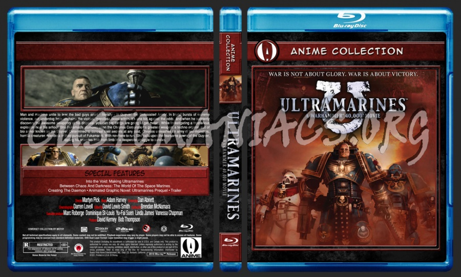 Anime Collection Ultramarines Warhammer A 40K Movie blu-ray
