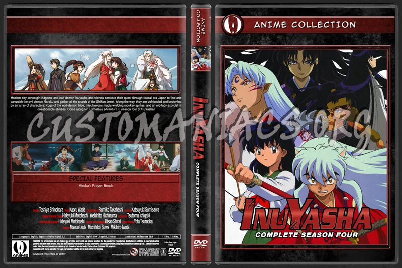Anime Collection Inuyasha Complete Season Four dvd cover