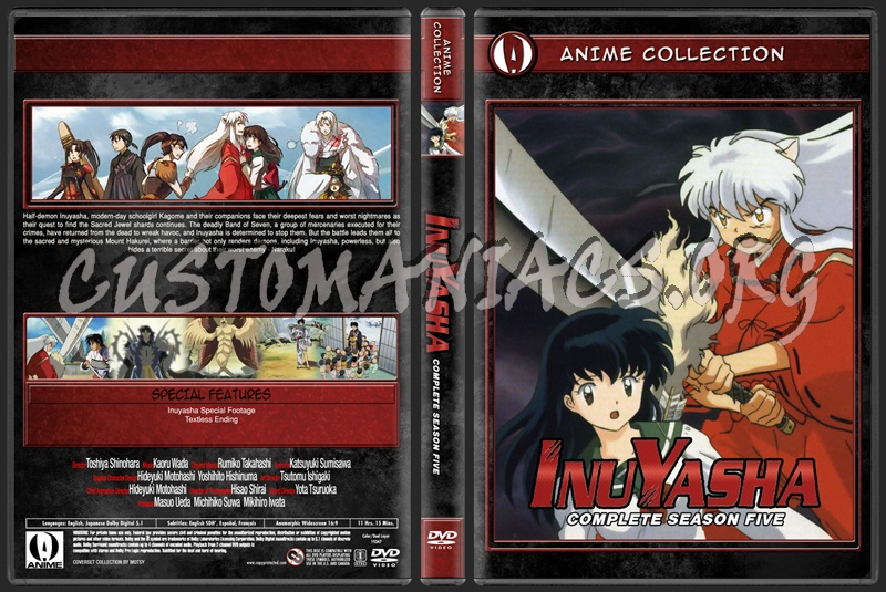 Anime Collection Inuyasha Complete Season Five dvd cover
