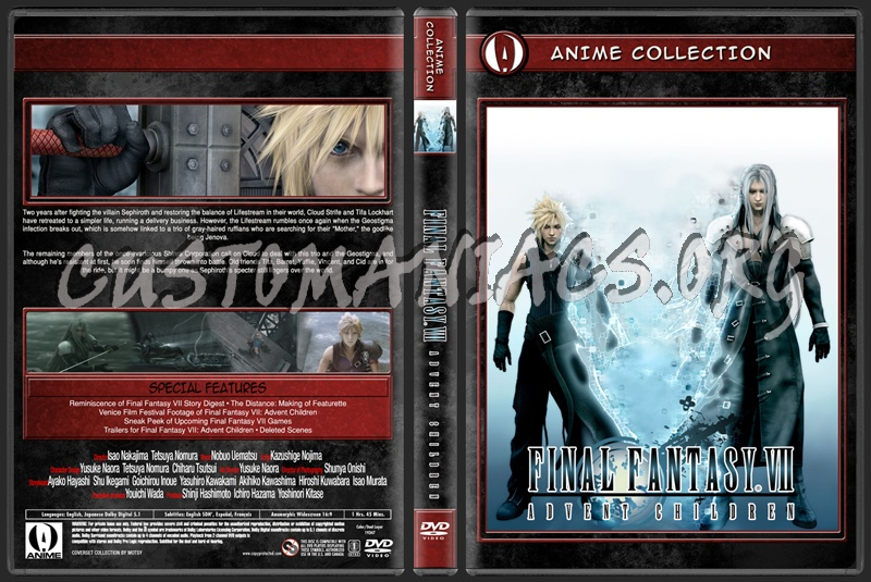 Anime Collection Final Fantasy Advent Children dvd cover