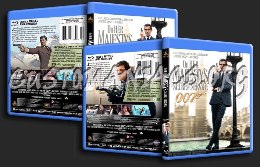 James Bond: On Her Majesty's Secret Service blu-ray cover