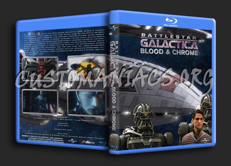 Battlestar Galactica Blood & Chrome blu-ray cover