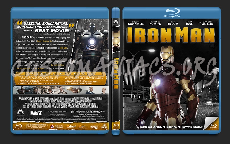Iron Man blu-ray cover