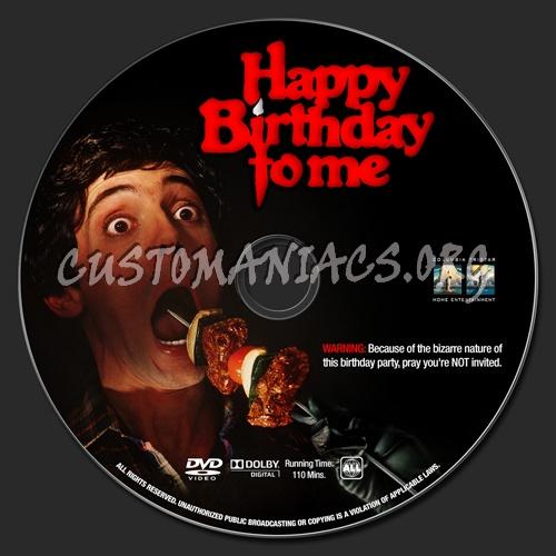 Happy Birthday To Me dvd label