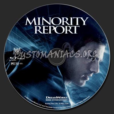 Minority Report blu-ray label