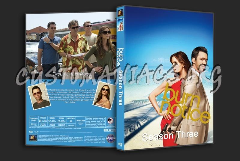 Burn Notice : Season 1-4 dvd cover
